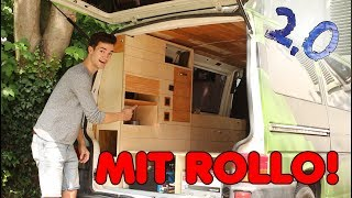 My new VW Bus side cupboard is MULTIFUNCTIONAL! | E.08 VW Bus Reconstruction 2.0