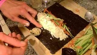Making Raw Food Nori Wraps Rolls Sushi Vegan Raw Style