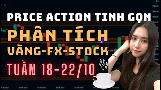 ✅ Phân Tích VÀNG-FOREX-STOCK Tuần 18-22/10 Theo Phương Pháp Price Action Tinh Gọn | TraderViet