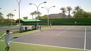Indian Wells BNP Paribas Open 2011 3.12.11 Jo-Wilfried Tsonga Gilles Simon Practice I