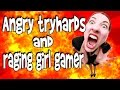 COD Black ops 2: Angry tryhards and raging girl gamer! Flashbang Trolling