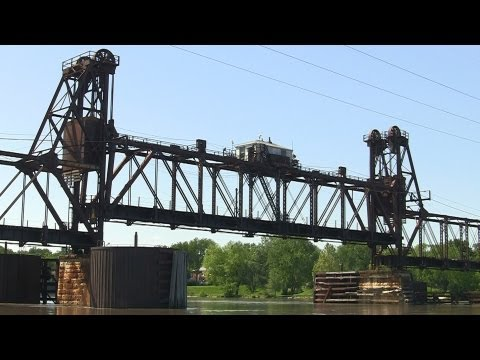 The Raising of the Railroad Bridge over the Illinois River at Ottawa, Illinois
