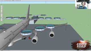 The Great Jet Fuel Hoax Airbus A380 Sketchup how to Model truth in travel 911! #TeamYahawashi