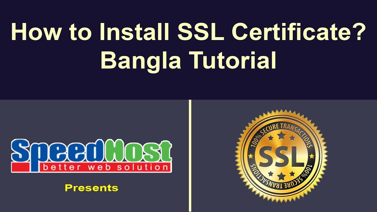 How to install ssl certificate on website server or cpanel ssl how to install ssl certificate on website server or cpanel ssl certificate install in bangla xflitez Choice Image