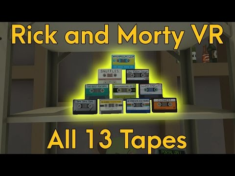 All 13 Secret Audio Tapes in Rick and Morty: Virtual Rick-ality [Easter Eggs]