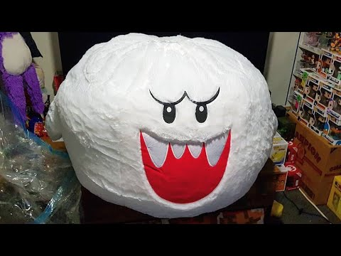 Unboxing Super Mario Bros Plush Boo Bean Bag Youtube