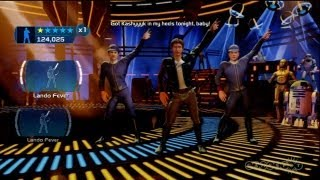 Kinect Star Wars - Han Solo and Lando Disco Boogie Gameplay