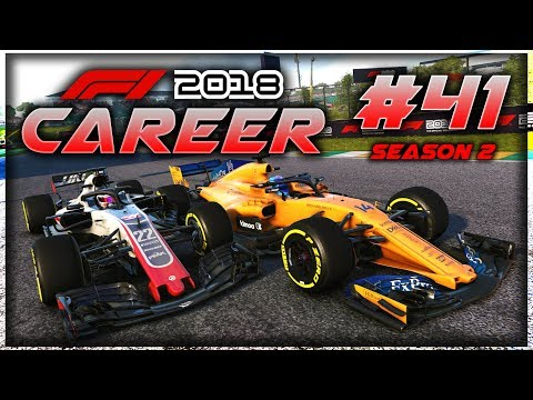 F1 2018 Career Mode Part 41: CAR ISSUES?! MEGA SCRAP WITH ALONSO FOR 5+ LAPS!