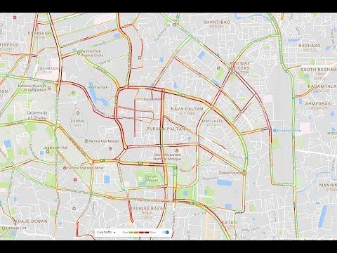 Dhaka Live Traffic Update by Google Maps (Bangla)