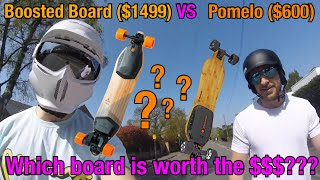 Boosted Board ($1499) VS Pomelo P5 electric skateboard ($600)