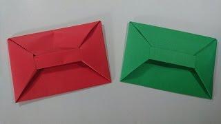 Como hacer un sobre con una sola hoja de papel -- Origami muy facil