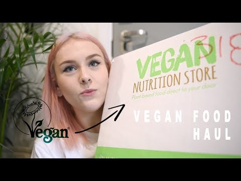 HUGE ONLINE VEGAN FOOD HAUL | VEGAN NUTRITION STORE