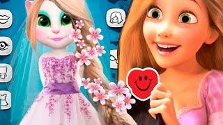 МОЙ ГОВОРЯЩИЙ ТОМ ГОВОРЯЩАЯ АНДЖЕЛА Tangled Рапунцель Свадьба disney princess MY TALKING ANGELA TOM