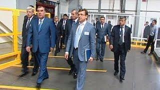 Президент Таджикистана посетил предприятия ГК «АЛЮТЕХ»