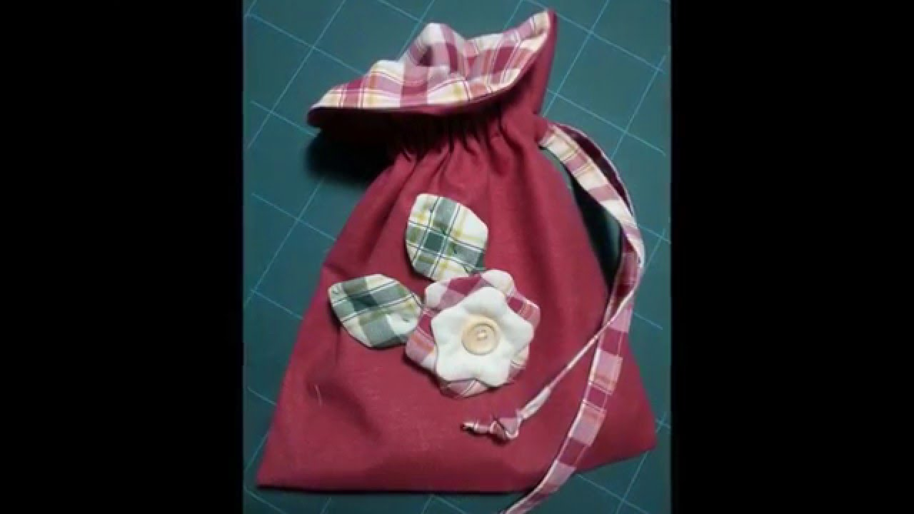 spesso tutorial sacchetto cucito creativo idea regalo - YouTube HY47