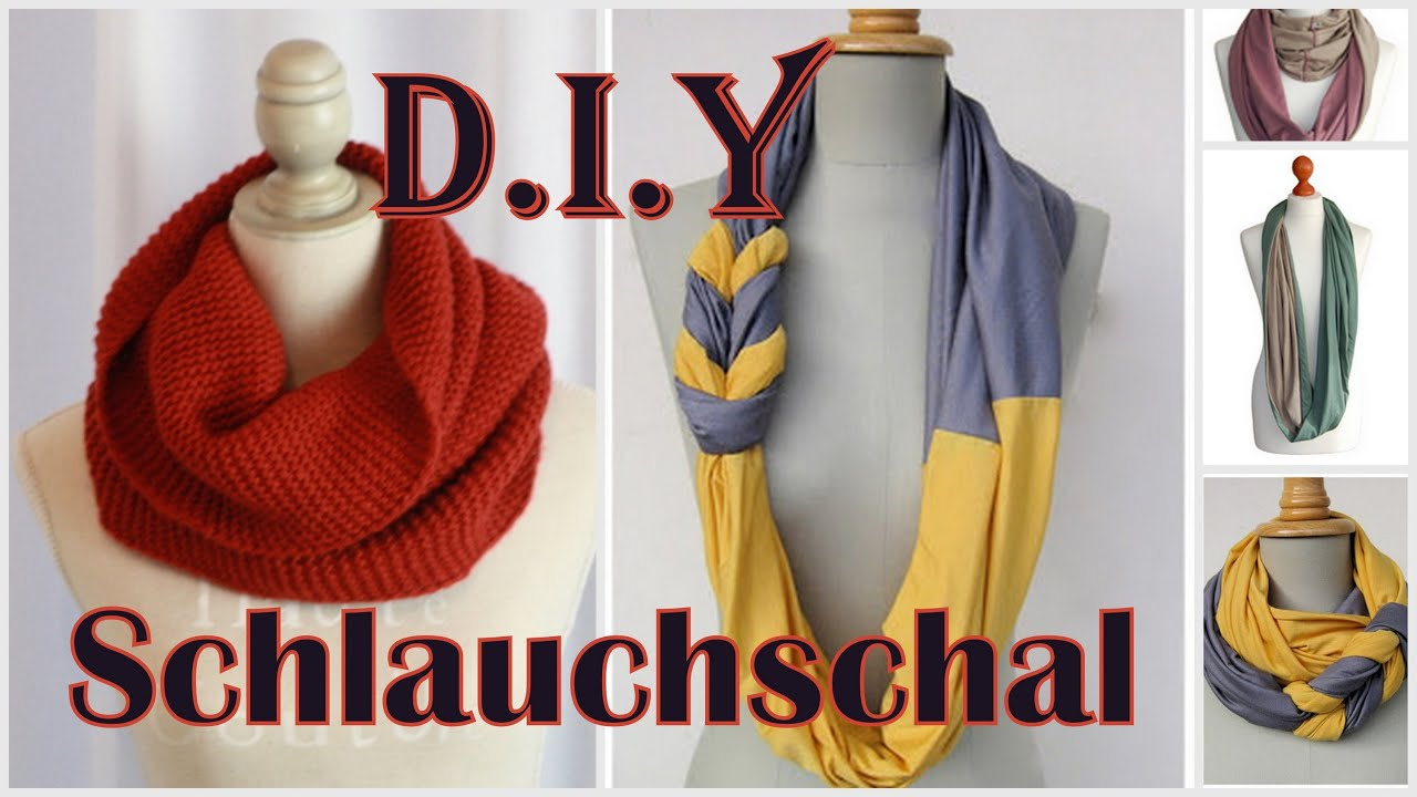 DIY Loop-Schal | 3 Varianten - YouTube
