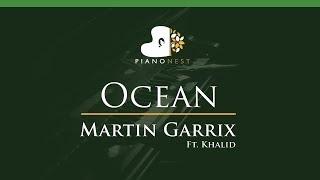 Martin Garrix feat Khalid - Ocean - LOWER Key (Piano Karaoke / Sing Along)