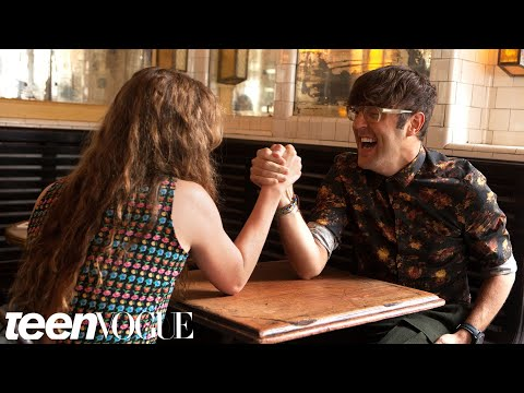 Homeland's Morgan Saylor Arm Wrestles with Andrew Bevan – Breakfast with Bevan  Teen Vogue