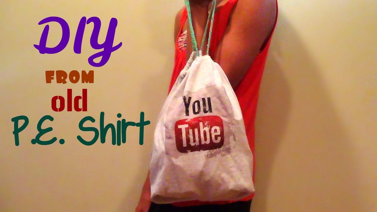 No Sew Pillowcase Drawstring Bag: DIY No Sew Drawstring Bag (Back to School)  HowToByJordan   YouTube,