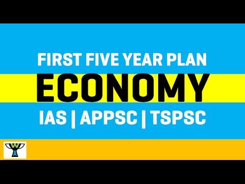 First Five Year Plan India - Economy - IAS   APPSC   TSPSC   TNPSC