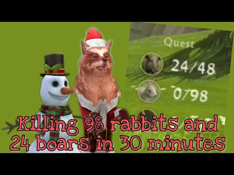 WildCraft - Killing 96 Rabbits And 24 Boars In 30 Minutes