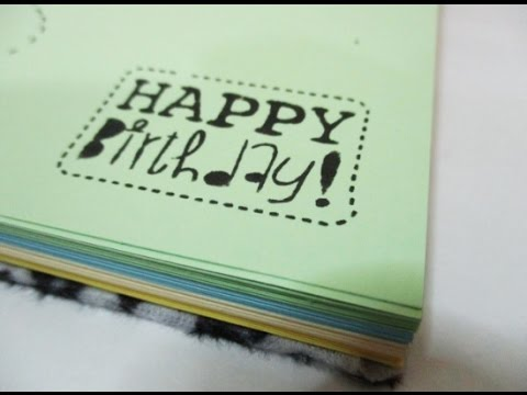 DIY #117   Birthday Gift Notebook ♥