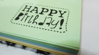 DIY : #117 Birthday Gift Notebook ♥