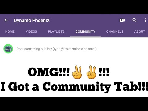 I got a Community Tab... Very Important Announcement...