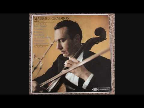 Maurice Gendron (1/2) - A recital of Works by Bach, Handel, Schumann, Paganini, Saint-Saens, etc
