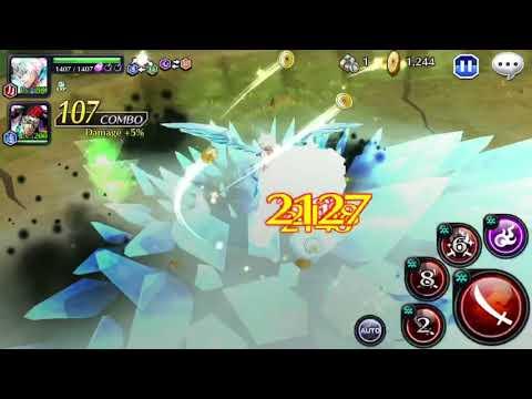 (TYBWA) Toshiro 6 Star Level 200 (Red/Power) Gameplay [Bleach Brave Souls]