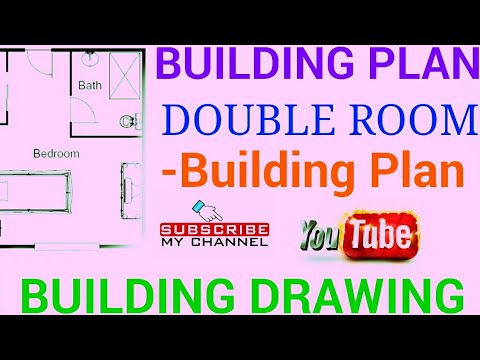 Building Plan- Double Room-BUILDING PLAN/Building Drawing/Engineering Drawing
