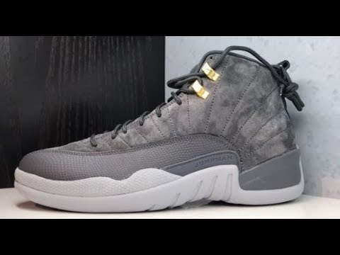 9cab6192951dbb AIR JORDAN 12 DARK GREY SUEDE RETRO HONEST REAL SNEAKER REVIEW - YouTube