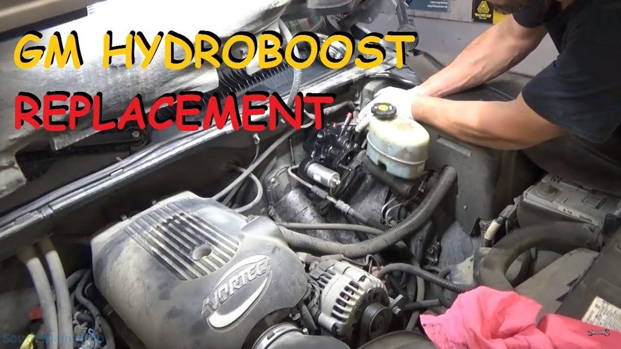 gm truck hydroboost hydraulic brake booster remove replace [ 1280 x 720 Pixel ]