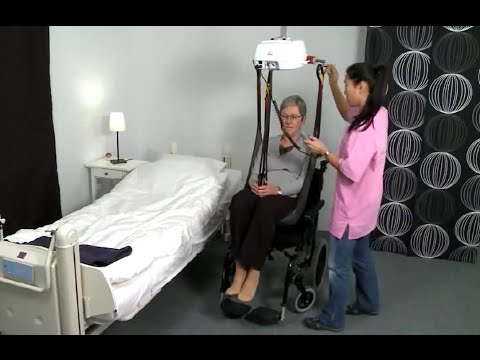 Raylı Sistem Hasta Taşıma (Kaldırma) Lifti HumanCare Sandalyeden Yatağa Transfer