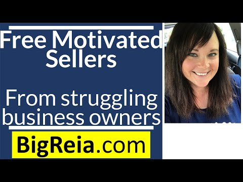 How to get free motivated seller leads by helping business owners who are going out of business.