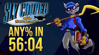 Sly Cooper Any% Speedrun in 56:04