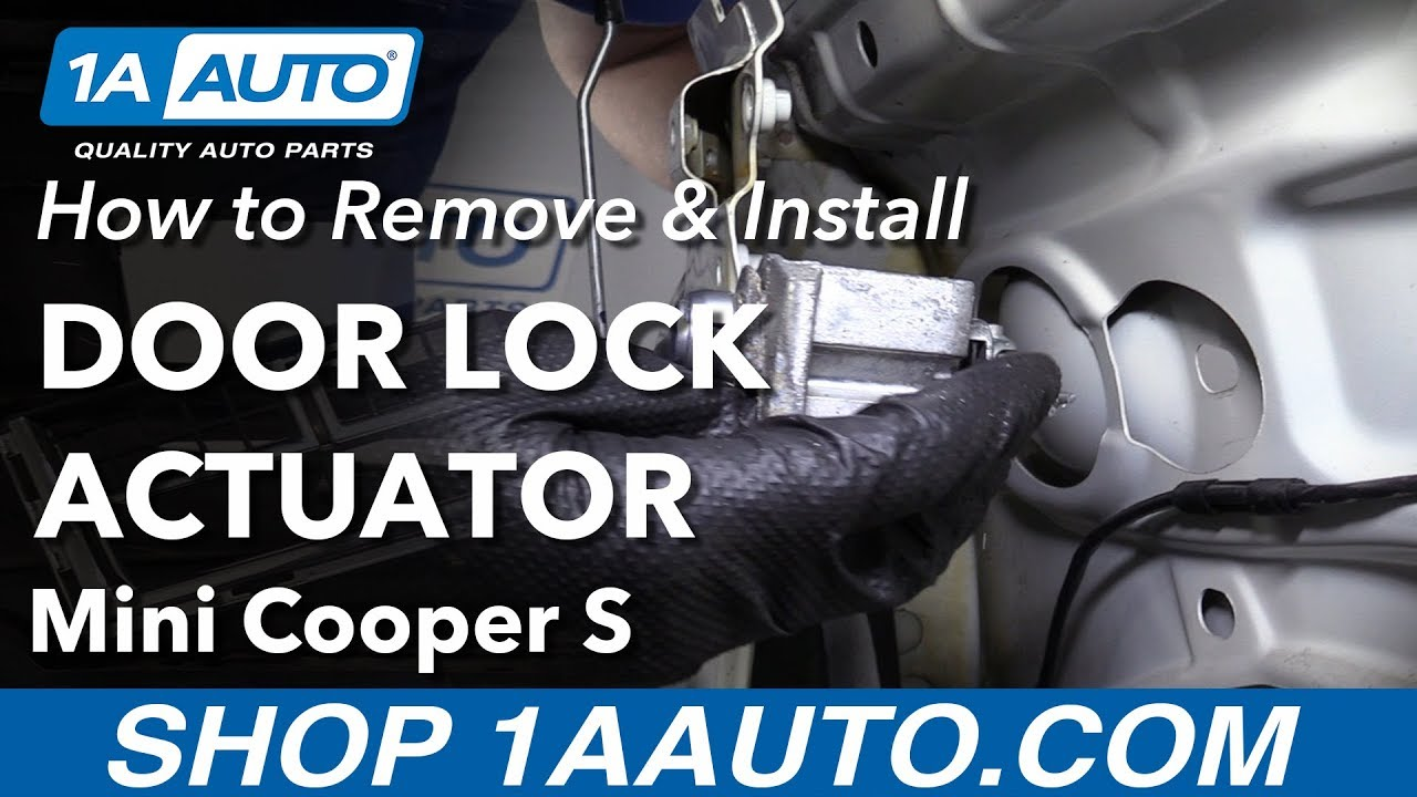 How To Remove Door Lock Actuator 07 13 Mini Cooper S Youtube
