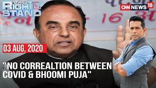 BJP MP Subramanian Swamy Says No Correlation Between Coronavirus & Bhoomi Puja At Ayodhya