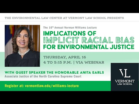 Norman Williams Distinguished Lecture In Land Use Planning And The Law With Anita Earls