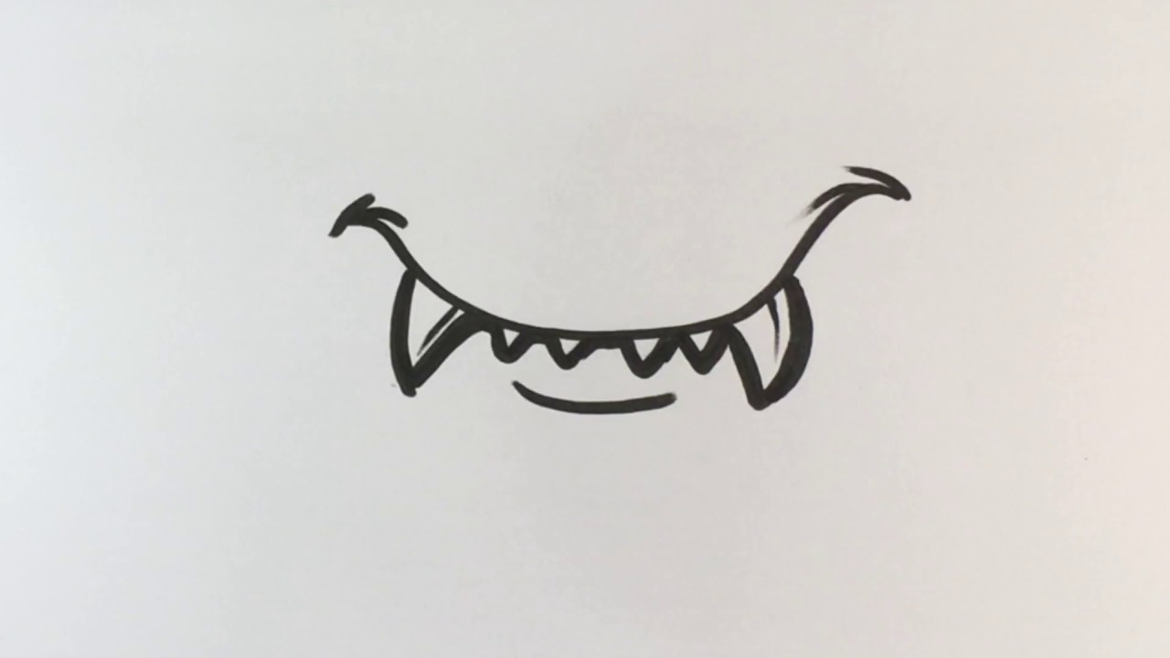 How To Draw Fangs The Easy Way Halloween Drawings Youtube