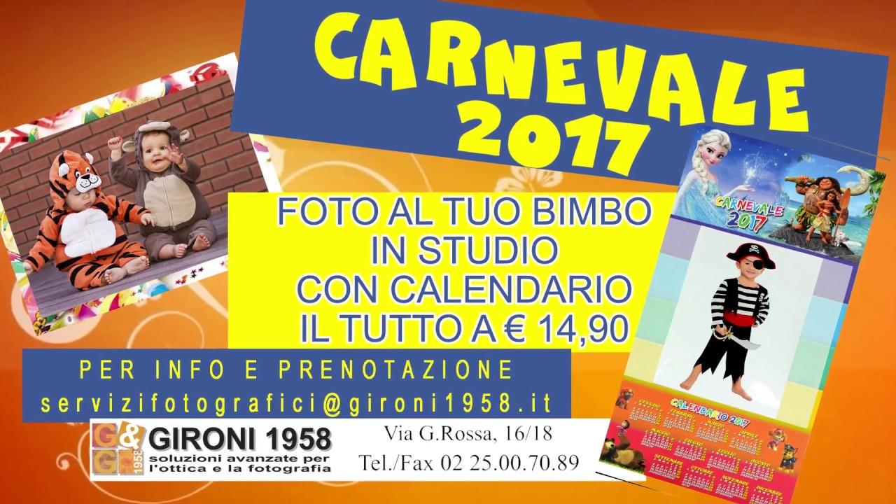 Calendario 1958.Calendario Carnevale 2017