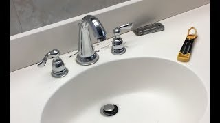 How to remove a bathroom faucet.