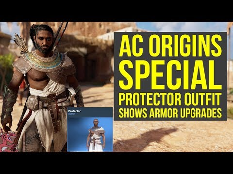 Assassin's Creed Origins Outfits SPECIAL PROTECTOR OUTFIT Shows Upgrades Nicely (AC Origins Outfits)