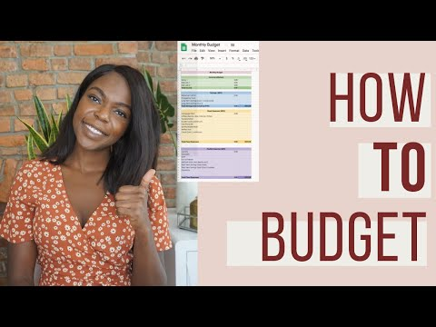 How To Budget Monthly For Beginners   Step By Step Guide (Free Budget Template)