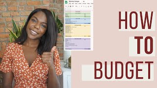 How To Budget Monthly For Beginners | Step By Step Guide (Free Budget Template)