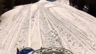 Snowmobiling Iron Mountain, California Amador County Sierra Nevadas - Part 11
