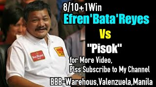 Efren'Bata'Reyes 8/10+1win Vs