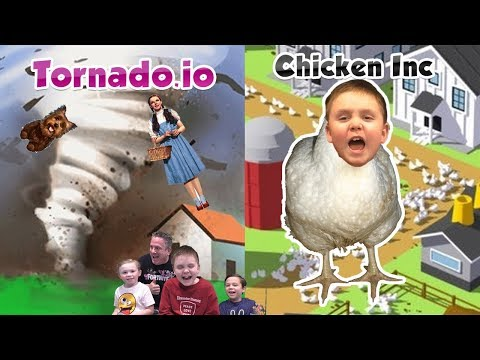Fan's Wish Granted - Tornado.io And Chicken Inc. - David Takes Over Our Gaming Channel