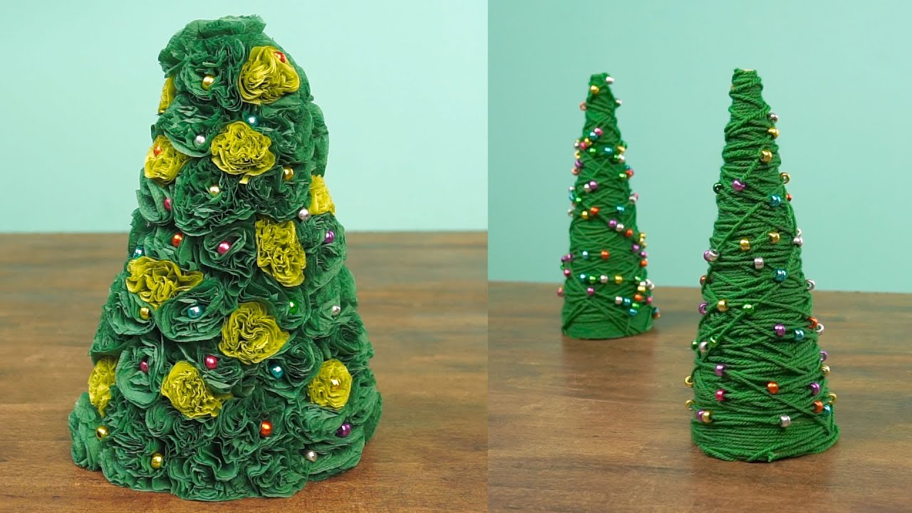 2 Miniature Christmas Tree Caft DIY Projects - YouTube