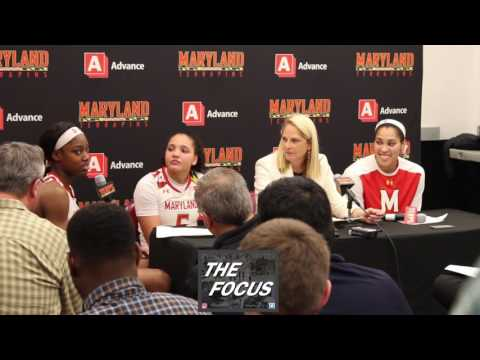 #4 Maryland vs #1 UConn Post Game-UMD Kaila Charles,Destiny Slocum,Brenda Frese,Brionna Jones